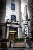New York Stock Exchange on Wall Street — Stock Photo