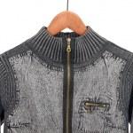 Jean jacket on a hanger — Stock Photo