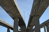 Viadutos da rodovia urbana — Foto Stock