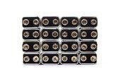 Neun-volt-batterien auf weißem hintergrund — Stockfoto