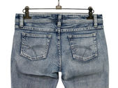 Blue jeans with pockets — Stock Photo