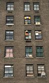 Three rows of windows — Stock Photo