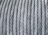 Steel cable on a coil — Stock Photo