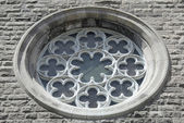 Ornamental window of a church — Stock Photo