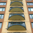 Stock Photo: Balconies of a modern highrise condo