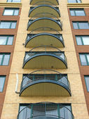 Balconies of a modern highrise condo — Stock Photo