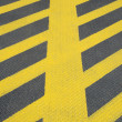 No parking yellow road marking — Stock Photo