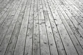 Knotty wooden floor — Stock Photo