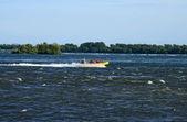 Jet boating macera — Stok fotoğraf