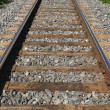Stock Photo: Railway track fading into distance