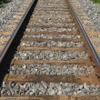 Railway track fading into the distance — Stock Photo