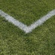 Corner boundary lines of sports field — Stockfoto #21824843