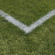 Stock Photo: Corner boundary lines of sports field