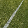 Boundary line of a green playing field — Stockfoto