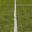 Side boundary line of a football field — Stockfoto