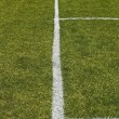 Stock Photo: Side boundary line of football field