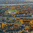 Aerial view of a suburban neighborhood — Stock Photo