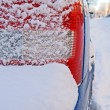 Car bumper covered by snow — Stock Photo #21826753