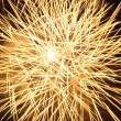 Yellow fireworks burst — Stock Photo