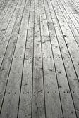 Nailed wooden flooring — Stock Photo