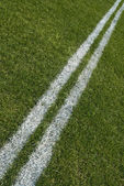 Boundary lines of a playing field, diagonal — Stock Photo