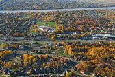 Aerial view of a suburban neighborhood — Stock Photo