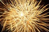 Yellow fireworks burst — Stock Photo