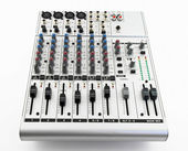 Silver sound mixer — Stock Photo