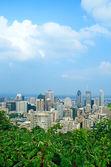 Vue sur le centre-ville de montréal — Photo