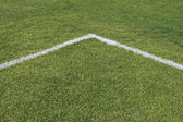 Corner lines of a playing field — Stock Photo
