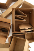 Cardboard boxes, from above — Stock Photo