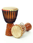 Two African djembe drums — Stock Photo