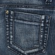 Blue jeans pocket — Stock Photo