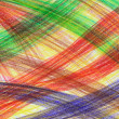 Hand-drawn multicoloured crayon strokes — Stock Photo