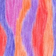 Hand-drawn crayon striped background — Stock Photo