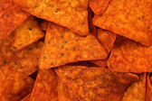 Hot corn chips background — Stock Photo