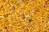 Mixed noodles background — Stock Photo