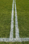 Double boundary line of a playing field — Stock Photo