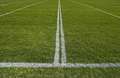 Perspective of a playing field with painted white lines — Stock Photo