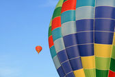 Closeup of a bright hot air balloon — Stock Photo