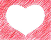 Hand-drawn red heart shape — Foto Stock