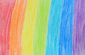 Rainbow crayon drawing — Stock Photo