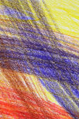 Abstract multi-coloured crayon drawing — Stock Photo