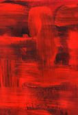 Red oil painting, brush strokes texture — Stock Photo