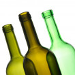 Royalty-Free Stock Photo: Three green empty bottles