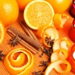 Stock Photo: Oranges, spices and candles