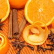 Oranges and spices — Stock Photo