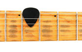 Electric guitar neck with black mediator — Stock Photo