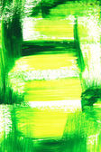 Vibrant green and yellow brush strokes — Stock Photo