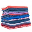 Stack of colorful clothes — Stock Photo